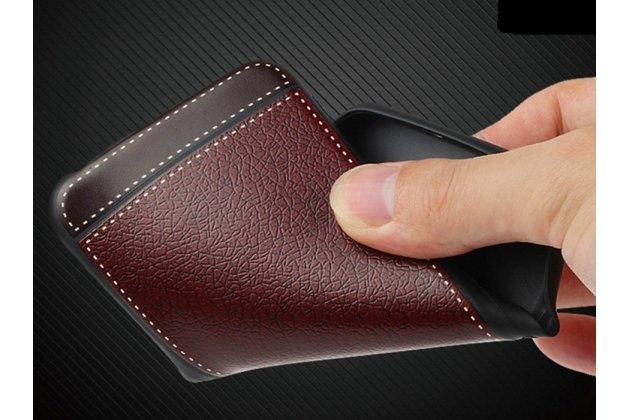 Премиальная элитная крышка-накладка на meizu m6 (m711q)  красная из качественного силикона с дизайном под кожу