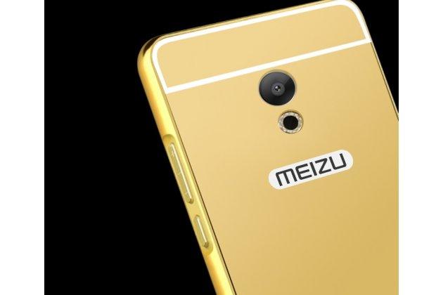 Металлическая задняя панель-крышка-накладка из тончайшего облегченного авиационного алюминия для meizu m6 (m711q) золотая