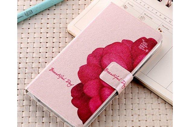 Уникальный необычный чехол-подставка для meizu m6 (m711q)  тематика алый цветок