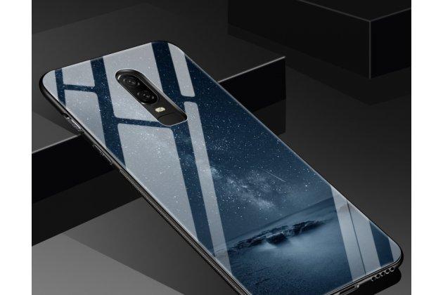"""Ультра-тонкий силиконовый чехол-бампер для oneplus 6 с закаленным стеклом на заднюю крышку телефона """"тематика ночь"""""""