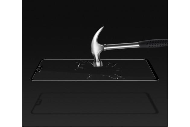 3d защитное изогнутое стекло с закругленными изогнутыми краями которое полностью закрывает экран / дисплей по краям с олеофобным покрытием для oneplus 6