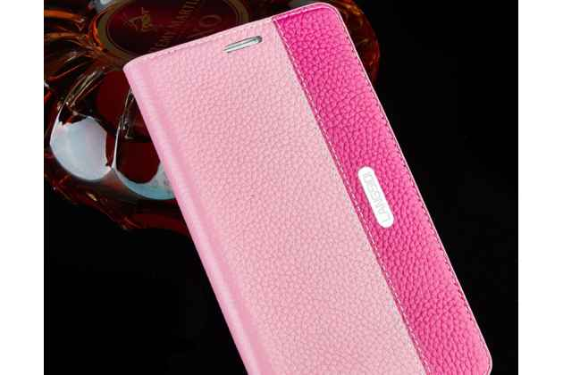 Премиальный чехол-книжка из качественной импортной кожи с мульти-подставкой и визитницей для oneplus 6 розовый