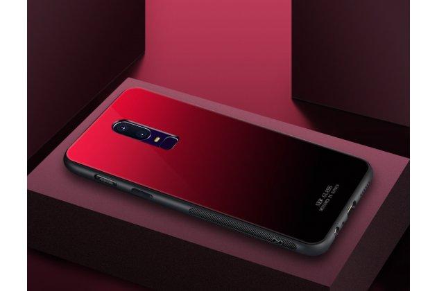 Ультра-тонкий силиконовый чехол-бампер для oneplus 6 с закаленным стеклом на заднюю крышку телефона красный