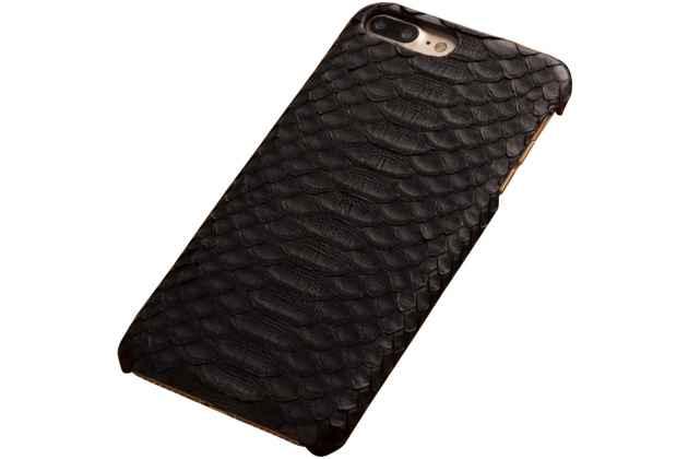 Элегантная экзотическая задняя панель-крышка с фактурной отделкой натуральной кожи змеи черного цвета для oneplus 6. только в нашем магазине. количество ограничено.
