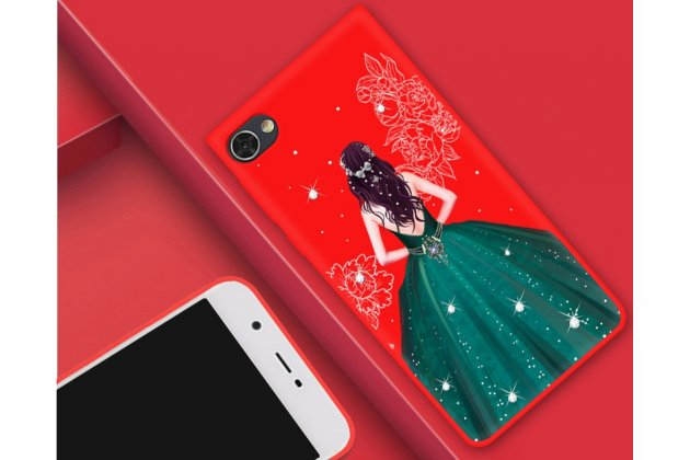 """Роскошная задняя панель-чехол-накладка  из мягкого силикона с безумно красивым расписным 3d рисунком на blackberry motion """"тематика изумрудное платье"""""""