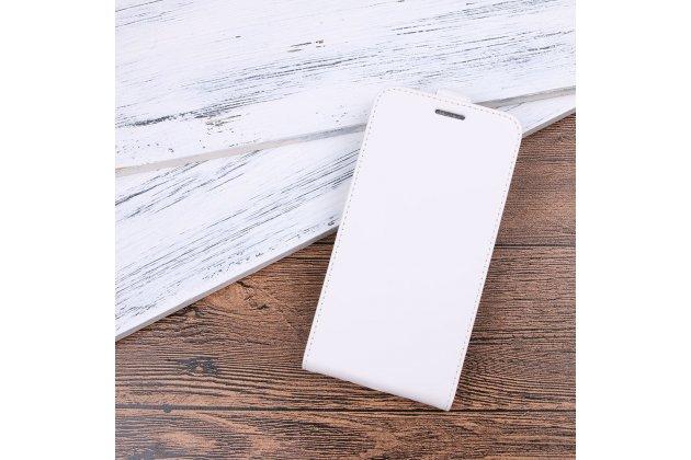 Вертикальный откидной чехол-флип для blackberry motion белый из натуральной кожи prestige