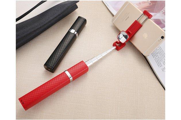 Разборная компактная женская модная элегантная селфи-палка беспроводная с удобной нескользящей ручкой черная