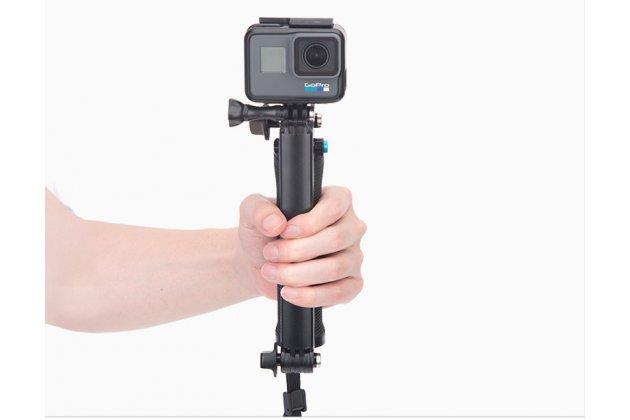 Складная необычная водонепроницаемая селфи-палка для экшн-камер gopro/ yi/ xiaomi/ sony на трех ножках с удобной нескользящей ручкой