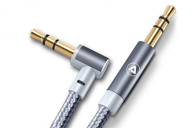 Автомобильный аудио-кабель aux jack 3.5 (m) - jack 3.5 (m) (г-образный) 1,5м
