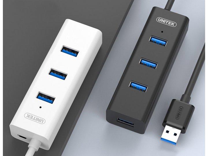 универсальный Хаб сплиттер USB 3.0 30см для подключение флеш накопителя, клавиатуры, мыши, 4 гнезда