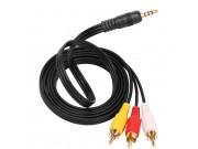 аудио-видео AV-кабель переходник-адаптер RCA x3 - Jack 3.5 (m) 1.5м