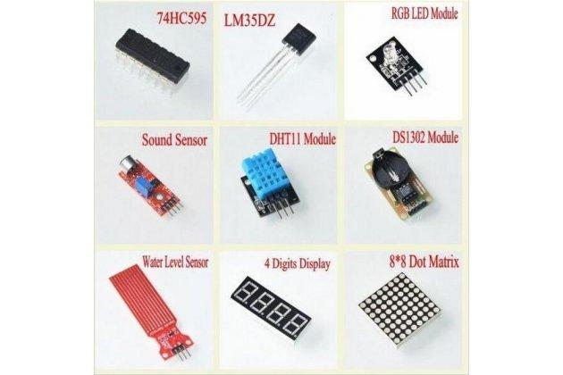 Обучающий набор arduino uno r3 starter kit обновленная версия с rfid модулем для начинающих в пластиковом кейсе