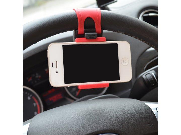 универсальный удобный держатель-крепление на руль подходит под все телефоны шириной 67мм