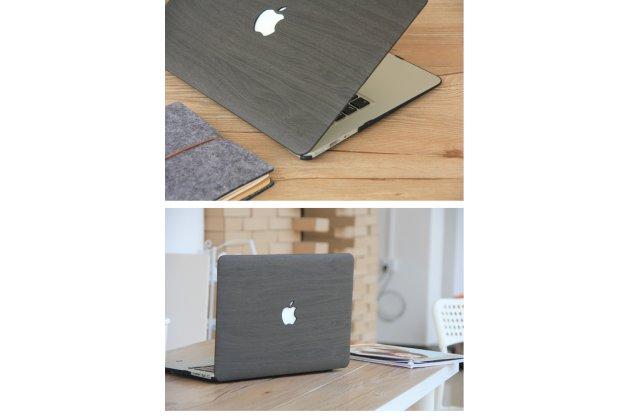 Ультра-тонкий пластиковый чехол-футляр-кейс для apple macbook air 13 early 2015 ( mjve2 / mjvg2) 13.3 / apple macbook air 13 early 2014( md760 / md761) 13.3 с дизайном под дерево