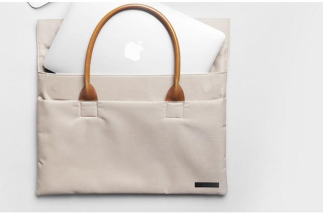 Чехол-сумка для apple macbook air 13 early 2015 ( mjve2 / mjvg2) 13.3 / apple macbook air 13 early 2014( md760 / md761) 13.3 с отделением для дополнительных аксессуаров из высококачественного материала