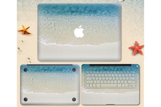 Защитная пленка-наклейка с 3d рисунком на твёрдой основе, которая не увеличивает ноутбук в размерах для apple macbook 12 early 2015 / 2016 / mid 2017 ( a1534 / a1527)