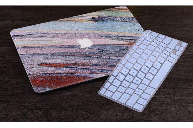 Ультра-тонкий пластиковый чехол-футляр-кейс для apple macbook 12 early 2015 / 2016 / mid 2017 ( a1534 / a1527) в комплекте с накладкой для клавиш ноутбука