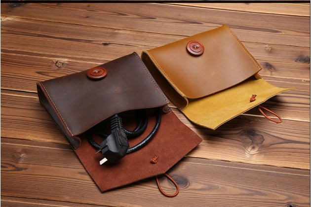 Чехол-клатч-сумка с визитницей + чехол для зарядного устройства для apple macbook 12 early 2015 / 2016 / mid 2017 ( a1534 / a1527) из качественной импортной кожи