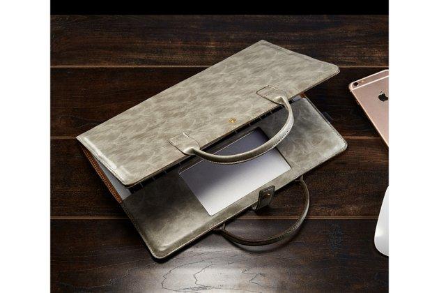 Чехол-сумка для apple macbook 12 early 2015 / 2016 / mid 2017 ( a1534 / a1527) с отделением под клавиатуру кожаный