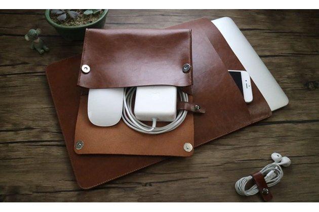 Чехол-клатч-сумка с визитницей и отделением для дополнительных аксессуаров для apple macbook air 11 early 2015 (mjvm2/ mjvp2) 11.6 / apple macbook air 11 early 2014 ( md711 / md712) 11.6 из качественной импортной кожи