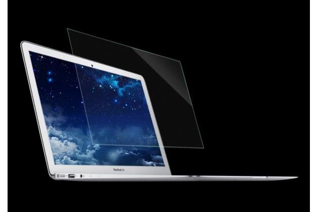 Защитное закалённое противоударное стекло для ноутбука apple macbook air 11 early 2015 (mjvm2/ mjvp2) 11.6 / apple macbook air 11 early 2014 ( md711 / md712) 11.6 из качественного японского материала премиум-класса с олеофобным покрытием