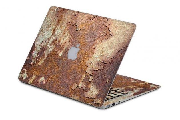 Защитная пленка-наклейка с 3d рисунком тематика эффект ржавчины на твёрдой основе, которая не увеличивает в размерах для apple macbook air 11 early 2015 (mjvm2/ mjvp2) 11.6 / apple macbook air 11 early 2014 ( md711 / md712) 1