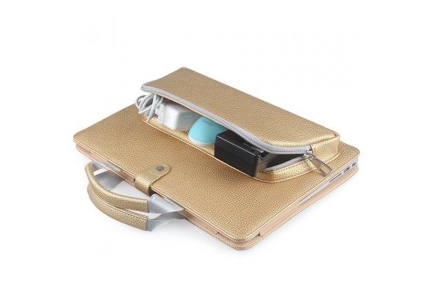 Чехол-сумка для apple macbook air 11 early 2015 (mjvm2/ mjvp2) 11.6 / apple macbook air 11 early 2014 ( md711 / md712) 11.6 с отделением под клавиатуру и отделением для дополнительных аксессуаров кожаный. цвет в ассортименте.