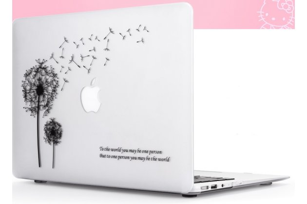 """Ультра-тонкий пластиковый чехол-футляр-кейс для apple macbook air 11 early 2015 (mjvm2/ mjvp2) 11.6 / apple macbook air 11 early 2014 ( md711 / md712) 11.6 """"тематика одуванчик"""". цвет в ассортименте."""