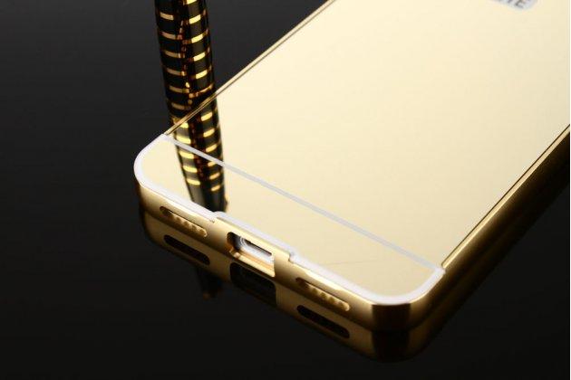 Металлическая задняя панель-крышка-накладка из тончайшего облегченного авиационного алюминия для zte blade v8 (bv0800) золотая