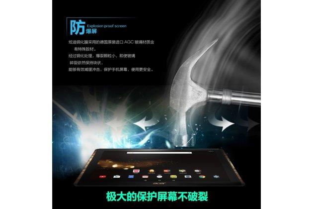 Защитное закалённое противоударное стекло премиум-класса из качественного японского материала с олеофобным покрытием для планшета acer iconia tab 10 a3-a40 2016