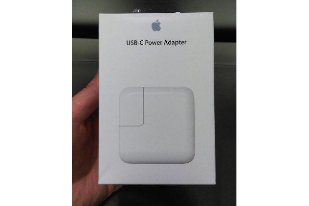 Зарядное устройство блок питания от сети для ноутбука apple macbook early 2015 12 ( mjy32ru/a / mjy42ru/a / z0rx0002j) + гарантия (29w usb-c power adapter (mj262z/a)