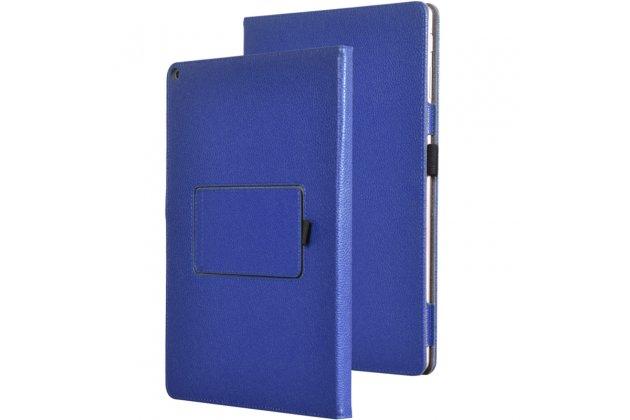 Чехол-обложка с мультиподставкой для asus transformer 3 t305ca (gw014t) 12.6 синий кожаный
