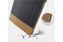Уникальный необычный чехол-подставка для asus transformer 3 t305ca (gw014t) 12.6 черный кожаный с золотой полосой