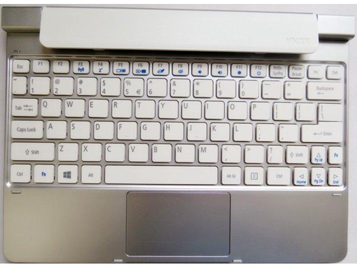 Съемная клавиатура/док-станция/база для планшета acer iconia tab w5/w510/w511 серебристого цвета + гарантия + ..