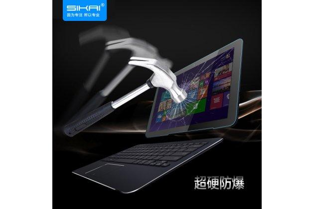 Защитное закалённое противоударное стекло премиум-класса из качественного японского материала с олеофобным покрытием для планшета asus transformer book t3 chi / t300 chi