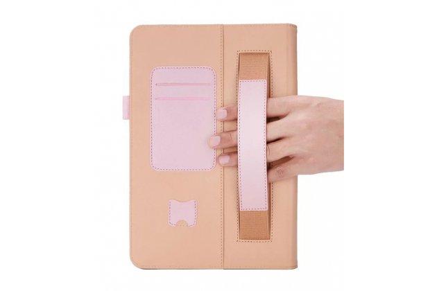 Чехол-футляр-книжка для  asus transformer mini t1002ha/t102ha золотой кожаный