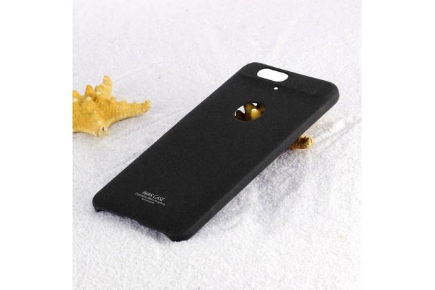 Задняя панель-крышка из прочного пластика с матовым противоскользящим покрытием для huawei google nexus 6p с подставкой в черном цвете