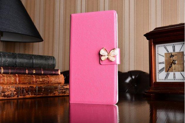 Роскошный чехол-книжка безумно красивый декорированный бусинками и кристаликами на asus zenfone 4 max zc554kl 5.5 розовый