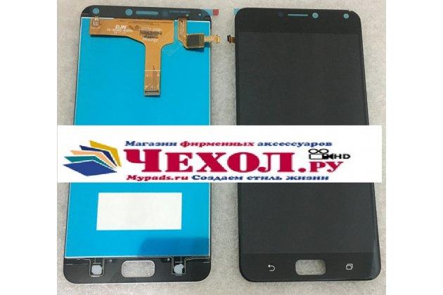 Lcd-жк-сенсорный дисплей-экран-стекло с тачскрином на телефон asus zenfone 4 max zc554kl 5.5 черный + гарантия