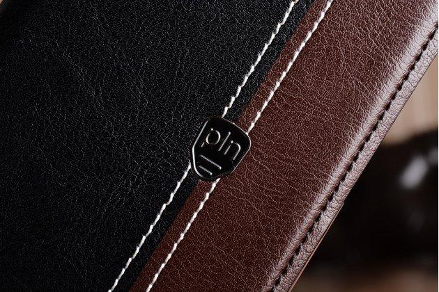 Премиальный элитный чехол-книжка из качественной импортной кожи с мульти-подставкой и визитницей для asus zenfone 4 max zc554kl 5.5 черно-коричневый