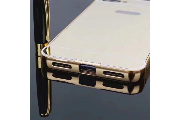 Металлическая задняя панель-крышка-накладка из тончайшего облегченного авиационного алюминия для asus zenfone 4 max zc554kl 5.5 золотая