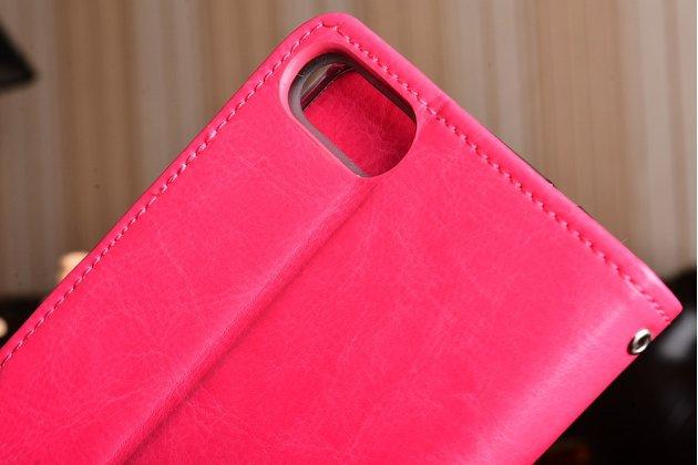 Чехол-книжка из качественной импортной кожи с подставкой застёжкой и визитницей для асус зенфон 4 макс зс554кл 5.5 розовый