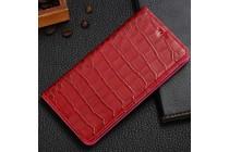 Фирменный роскошный эксклюзивный чехол с фактурной прошивкой рельефа кожи крокодила и визитницей красный для Asus Zenfone 4 Max ZC554KL 5.5. Только в нашем магазине. Количество ограничено
