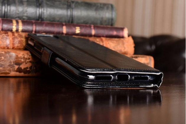 Чехол-книжка из качественной импортной кожи с подставкой застёжкой и визитницей для asus zenfone 4 max zc554kl 5.5 черный