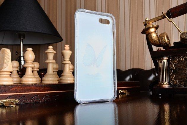 Ультра-тонкая полимерная из мягкого качественного силикона задняя панель-чехол-накладка для asus zenfone 4 max zc554kl 5.5 бабочка