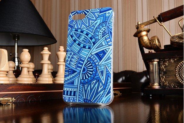 Ультра-тонкая полимерная из мягкого качественного силикона задняя панель-чехол-накладка для asus zenfone 4 max zc554kl 5.5 синие узоры