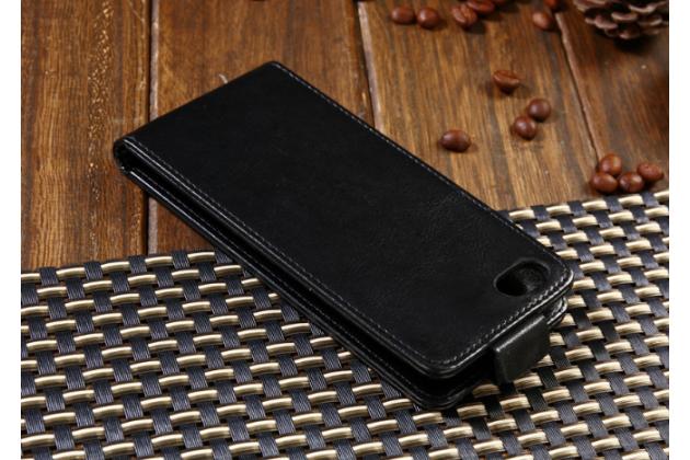 Вертикальный откидной чехол-флип для blackberry aurora черный из натуральной кожи prestige италия