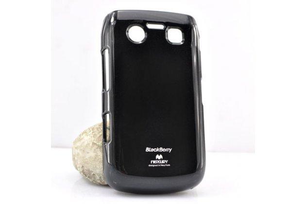 Ультра-тонкая полимерная из мягкого качественного силикона задняя панель-чехол-накладка для blackberry bolt 9700 черная