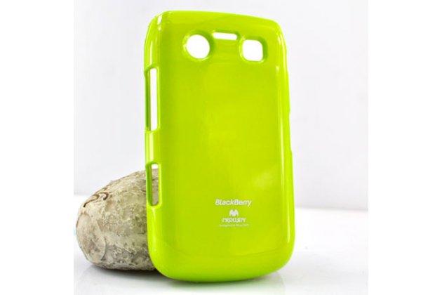 Ультра-тонкая полимерная из мягкого качественного силикона задняя панель-чехол-накладка для blackberry bolt 9700 зеленая