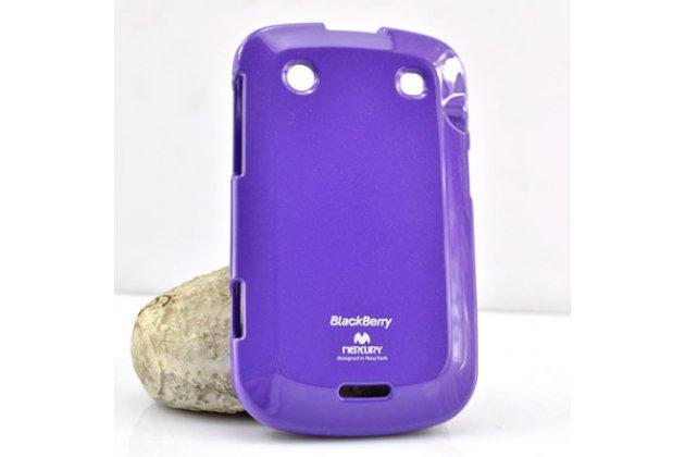 Ультра-тонкая полимерная из мягкого качественного силикона задняя панель-чехол-накладка для blackberry bolt 9900 фиолетовая